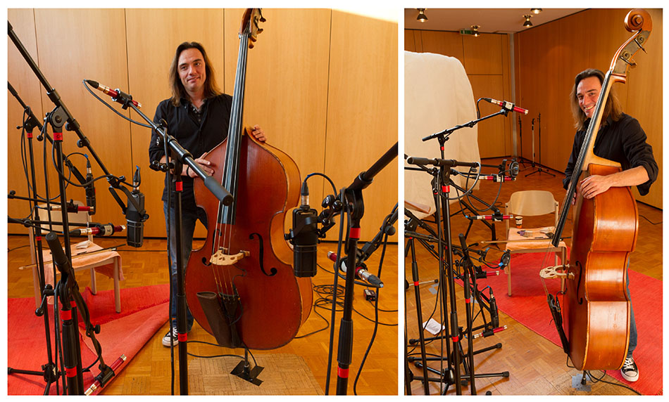 Acoustic bass mic positions