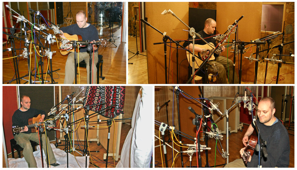 Acoustic guitar mic positions