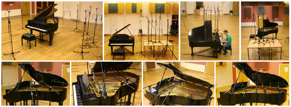 Acoustic grand piano mic positions