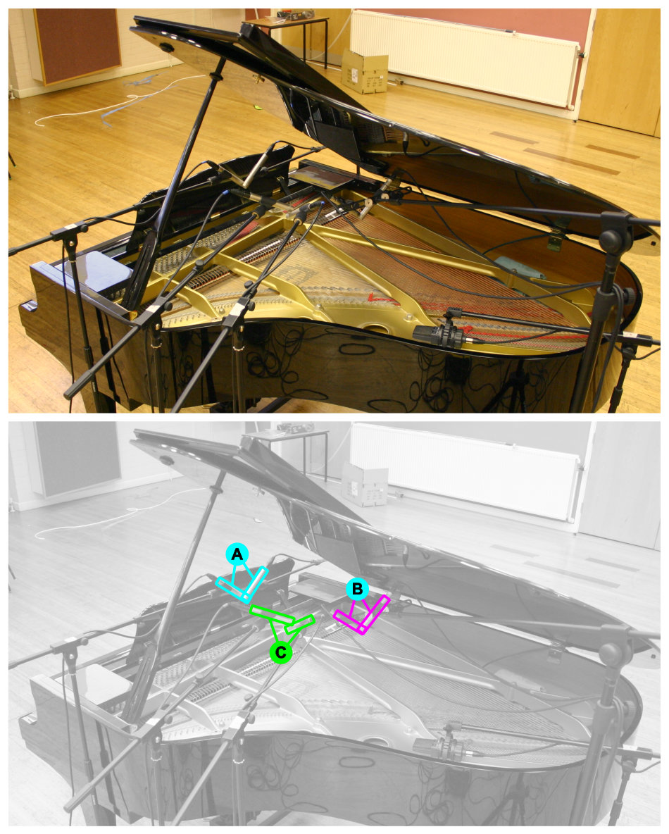 Acoustic grand piano multimic setup 9