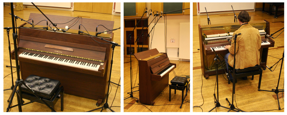 Acoustic upright piano mic positions