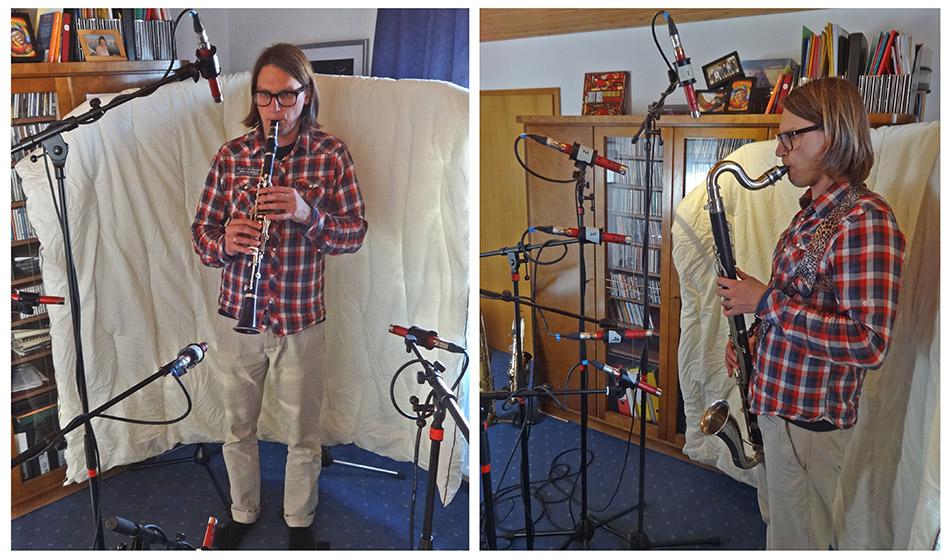 Clarinet mic positions