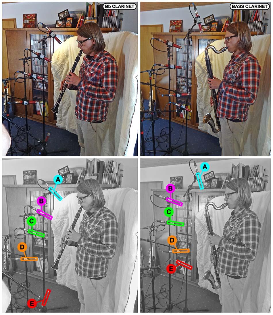 Clarinet multimic setup 1