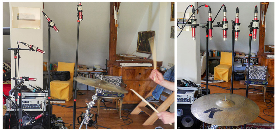 Cymbal mic positions