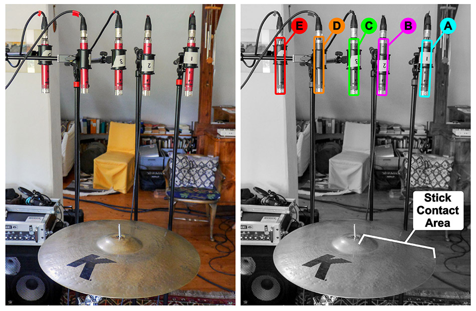 Cymbal multimic setup 2