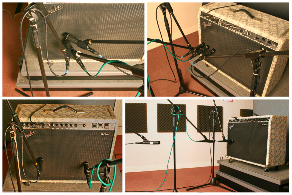 Electric guitar mic positions