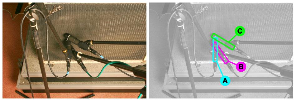 Electric guitar cabinet multimic setup 2