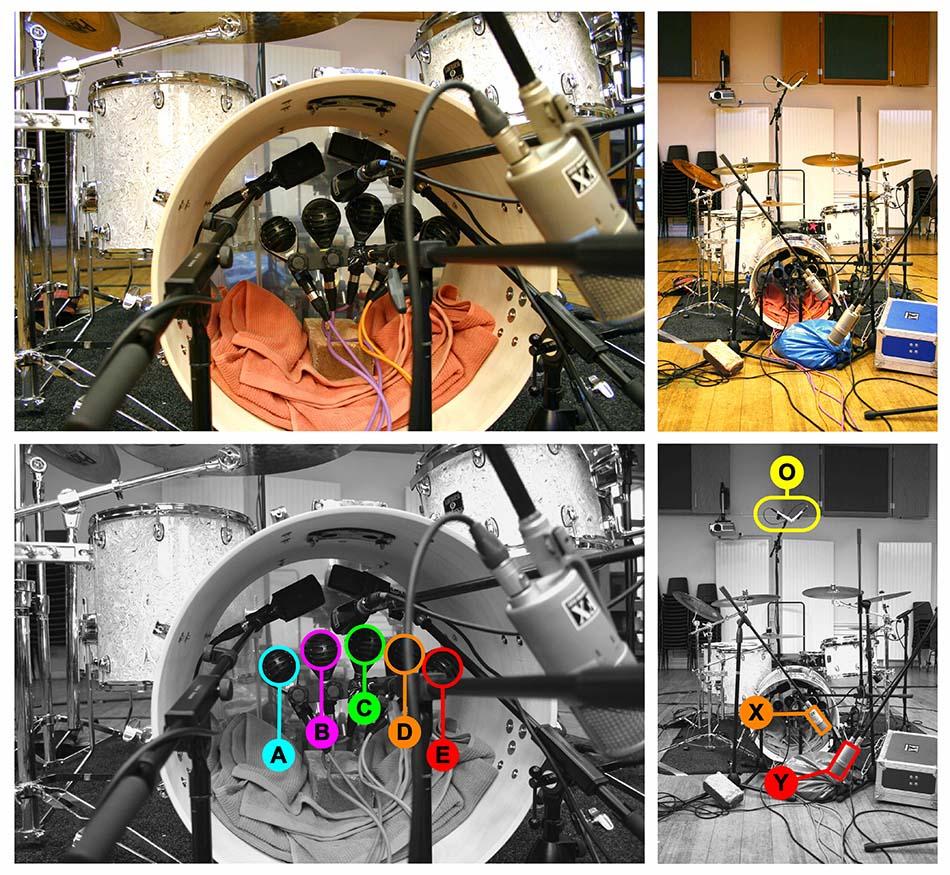 Kick drum multimic setup 1