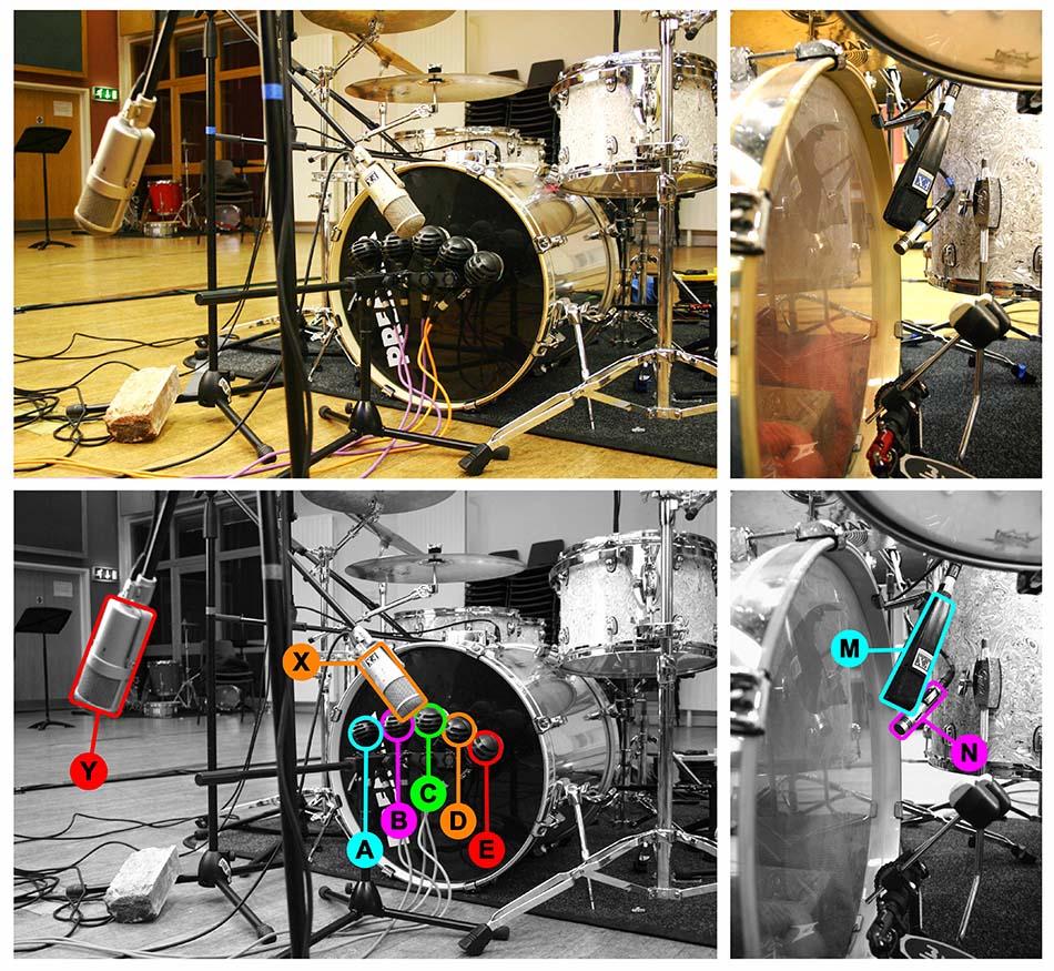 Kick drum multimic setup 2