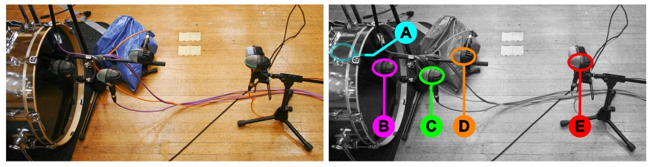 Kick drum multimic setup 3: miking-distance variations