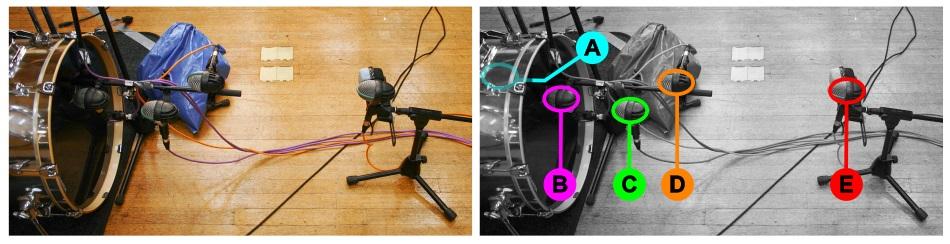 Kick drum multimic setup 3: miking-distance variations
