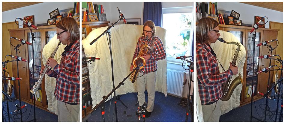 Saxophone mic positions