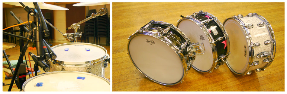 Snare drum mic positions