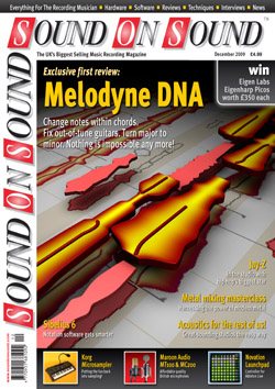 Melodyne DNA review (Sound On Sound magazine cover feature)