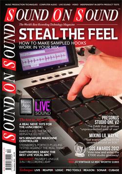 Steal The Feel (Sound On Sound magazine cover feature)