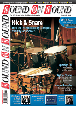 Kick & Snare: Advanced Recording Techniques (Sound On Sound magazine cover feature)