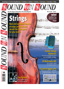 Strings: On A Budget & In A Hurry (Sound On Sound magazine cover feature)