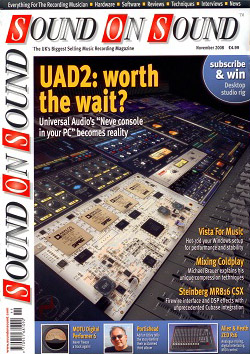 Universal Audio UAD2 review (Sound On Sound magazine cover feature)