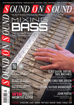Mixing Bass (Sound On Sound magazine cover feature)